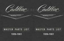 Cadillac Master Parts Book 1956 1957 1958 1959 1960 1961 Illustrated Catalog