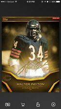 Topps Huddle Walter Payton Gold Signature Series - Bears Legend (20cc)