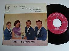 """LOS LLANEROS: La flor de la canela (+ 4 DEDICACES!) 7"""" EP Spanish ZAFIRO Z-E 258"""