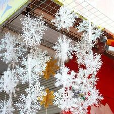 Snowflake Ornament Xmas Christmas Classical Tree Decoration Home Decor 30 pcs