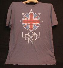 RETRO LONDON UNION JACK BRITISH FLAG ADULT MED GRAY TSHIRT T SHIRT GRAPHIC TEE