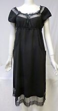 ANNA SUI Women's Beautiful Black Sleeveless Knee-Length Dress Size 6