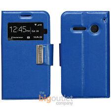 Custodia Blu Libro Flip Cover Magnetico Slim View per Vodafone 785 Smart 4 Mini