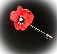 Poppy Pin Brooch (with Safety Silver Stem And Back)