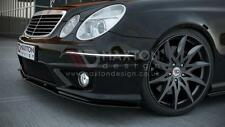FRONT SPLITTER (GLOSS BLACK) FOR MERCEDES E-CLASS W211 AMG FACELIFT (2006-2009)