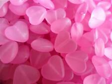 50 x Transparent Acrylic Heart Beads for Jewellery and craft projects free post