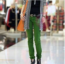 "Superbe jean vert "" Vogue Korean Style Lace Candy Color Jeans"",taille S +neuf++f"