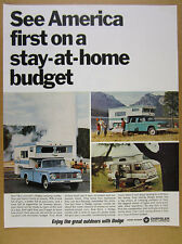 1966 Dodge Pickup Trucks Freeway Camper & Van photos vintage print Ad