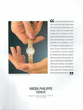 ▬► PUBLICITE ADVERTISING AD MONTRE WATCH PATEK PHILIPPE Flamme