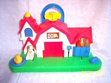 FISHER PRICE BUSY SOUND & FARM ANIMAL ACTIVITY CENTER TODDLER- FUN PLAY 1987