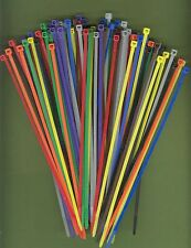 "100 8"" Inch Long 40# Pound Nylon Cable Ties 10 COLORS Zip Tie Ty Wrap MADE USA"