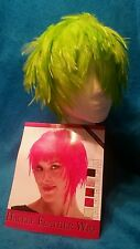 LIME GREEN HACKLE FEATHER WIG, attn. Seahawkers