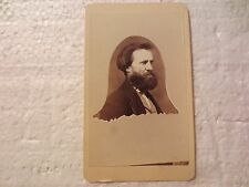 ORIGINAL CDV PHOTOGRAPH OF MAN WITH BEARD RARE BELL SHAPED MEMORIAL CARTOUCHE