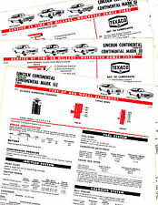 1966 1967 1968 1969 TO 1971 LINCOLN & CONTINENTAL LUBRICATION TUNE-UP CHARTS CC2