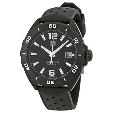 Tag Heuer Formula 1 Automatic Black Dial Black Rubber Mens Watch WAZ2115FT8023