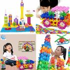 100PCS Plastic Snowflake Building Blocks Multicolor Child Kid Educational Toy