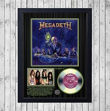 MEGADETH RUST IN PEACE CUADRO CON GOLD O PLATINUM CD EDICION LIMITADA. FRAMED