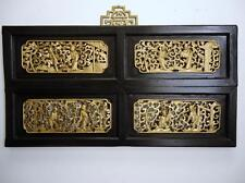 Authentic Antique Chinese Wood  Wall Panel 19c (8 Immortals)
