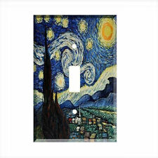 Van Gogh Starry Night Single Light Switch Plate Wall Cover Vincent Van Gogh