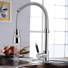 Kitchen Swivel Spout Single Handle Sink Faucet Pull Out Spray Mixer Tap Chrome