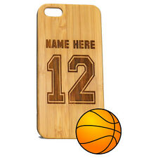 Custom Basketball Case for iPhone 7 Bamboo Personalized Wood Jersey Cover