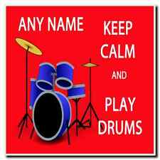 Keep Calm And Play Drums Personalised Drinks Mat Coaster