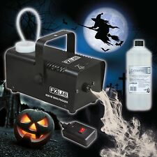 FX Lab 400 W Mini Club Party Halloween CONCERT Fog Machine & 1 LITRO LIQUIDO FUMO