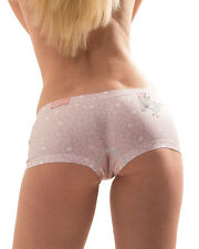 CROOTA Womens Boyshort Underwear, Seamless Low Rise Panty, size S