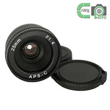 Mirrorless 25mm F1.4 C-Mount Lens for APS-C Camera M4/3 FX EOSM N1 P/Q NEX α7R