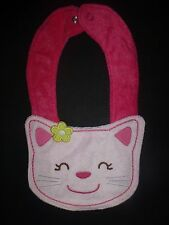 NEW Carter's Pink Kitty Cat Baby Girl Terry Cloth Teething Drool Bib
