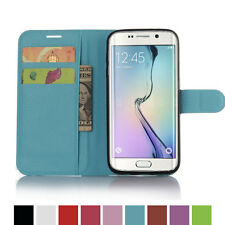 Luxury Card Wallet Stand Flip Case PU Leather For SAMSUNG GALAXY S7 EDGE-Blue