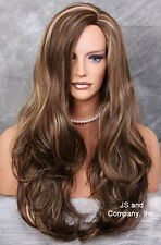 LONG wavy layered Side skin part top Chestnutbrown Blone mix WIG JSCO 8/12/24