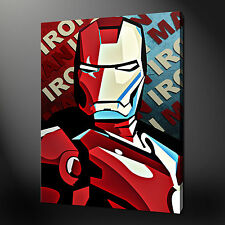 "IRON MAN MOVIE POP ART MODERN PICTURE POSTER CANVAS PRINT 20""x16"" FREE UK P&P"