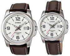 CASIO DATE ANALOG LEATHER DRESS COUPLE LOVER PAIR MTP/LTP-1314L-7A NEW CLASSIC
