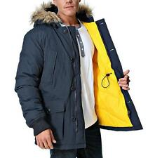 Superdry Everest Coat Men's Hood Winter Warm Down Parka $300 Navy NEW XL