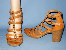 5844_SEXY 'DO ME' MOSSIMO WOMENS BROWN 3 INCH HEEL GLADIATOR STYLE SHOES SIZE 9