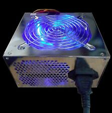 NEW 550W LED Blue 120mm Cooling Fan Silent Computer Gaming PC Power Supply PSU