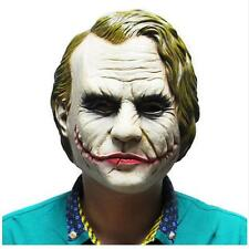 Joker Mask Costume Cosplay movie Rubber Latex Masks Halloween Heath Ledger Clown