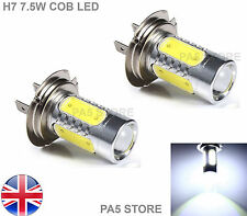 2x H7 7.5W COB LED Bulbs BRIGHT XENON White 6000K -Car Fog Light Lamp 12V UK NEW