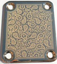 NECK PLATE CUSTOM Shop - cachemire -paisley - gold pour Fender strat, tele, bass