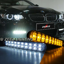 JDM 30 LED Daytime Running Light DRL Kit Fog Day lights + Amber Turn Signal C93