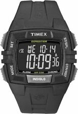 Timex T49900, Men's Expedition Black Resin Watch, Alarm, Indiglo, T499009J