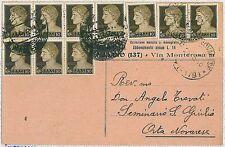 ITALIA RSI / Repubblica : storia postale - IMPERIALE su BUSTA - USO TARDIVO 1946