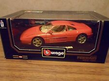 BURAGO 1/18 DIAMONDS 1989 FERRARI 348tb DIE-CAST METAL
