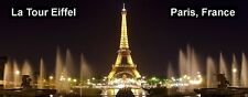 PANORAMA FRIDGE MAGNET of THE EIFFEL TOWER BY NIGHT PARIS FRANCE