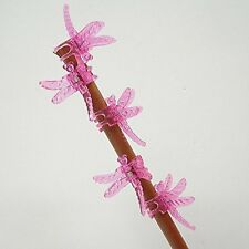 Dragonfly Clips for Orchids or plant spikes Pack of 5 Red