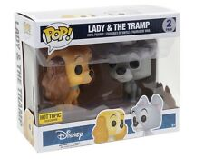 Funko Pop Disney Lady And The Tramp Hot Topic Exclusive 2 Pack FREE SHIPPING NOW