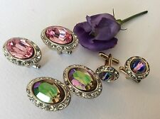 Cufflinks Job Lot Wedding Favours Usher Groom Hand Finished 3 pairs GIFT RESALE