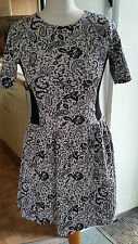 Look.s New Ladies Womens Floral Purple KneeLength Dress Size12 M by River Island