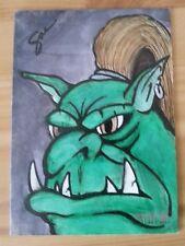 FANTASY ART HAND DRAWN SKETCH CARD SAL GALINDO